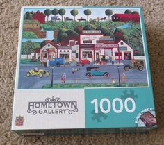HOMETOWN GALLERY THE OLD FILLING gas STATION ART POULIN 1000 Piece jigsaw puzzle #MasterPieces