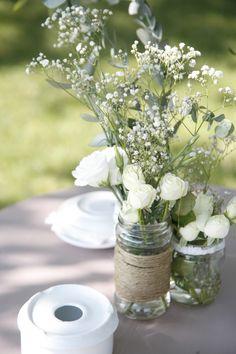 Centro de flores para las mesas del aperitivo *yodeBlancoytudeNegro*