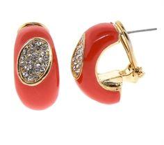 Tangerine Enamel Earring    $10
