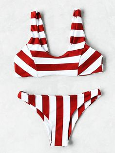 Shop Two Tone Striped Print Bikini Set online. SheIn offers Two Tone Striped Print Bikini Set & more to fit your fashionable needs.