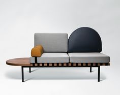 Grid is a modular sofa / daybed designed by Paris-based studio Pool for French design manufacturer Petite Friture. True to the studio's graphic identity, the sofa is a symphony of geometric forms that can be arranged and rearranged in a myriad of . Milan Furniture, Bench Furniture, Modern Furniture, Furniture Design, Furniture Assembly, Furniture Outlet, Discount Furniture, Sofa Design, Interior Design