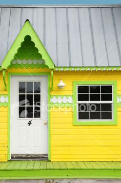 yellow cottage... I dislike the colors, but like the style