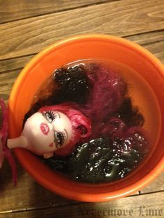 How TO Fix Frizzy Doll Hair | Nevermore Lane - shared at the #HomeMatters Linky Party