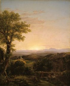 Thomas Cole; American, 1801-1848, New England Scenery