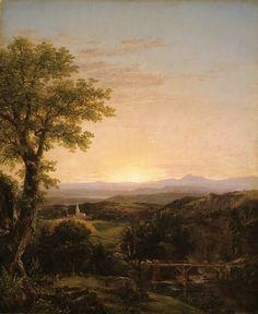 Thomas Cole; American, 1801-1848, New England Scenery