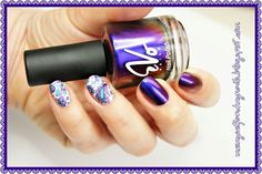 """me, myself and my nails: In bloom - EVO NAILS 217 """"cherry amethist"""""""