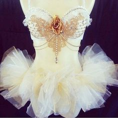 White Goddess W/Matching tutu by RevoltCouture on Etsy