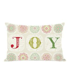 Take a look at this Ivory 'Joy' Boho Throw Pillow on zulily today!