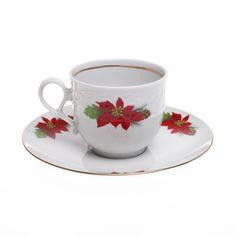 Εορταστική πρόταση για σας που τα Χριστούγεννα έχουν χρώμα κόκκινο-πράσινο-χρυσό. Σας προτείνουμε να πιείτε τον καφέ σας ή το τσάι σας, ακούγοντας γλυκιές χριστουγεννιάτικες μελωδίες. Το φλυτζάνι είναι από φίνα πορσελάνη με σχέδιο Αλεξανδρινό Tea Cups, Tableware, Dinnerware, Dishes, Teacup, Tea Cup