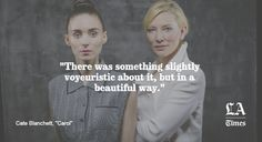 #Rooney Mara and #Cate #Blanchett star in #Carol a film by Todd Haynes 2015