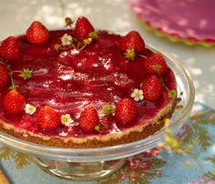 Opskrift på jordbær-cheesecake | Strawberry cheesecake