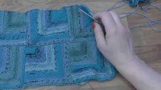 Modulové pletení - spojování čtverců 3. - knitting squares