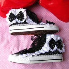 I wonder if i can make these??shoes kawaii fairy kei fairykei cute bow shoes bow dots