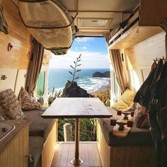Inspiring 15 Tips Fabulous Interior Design For Camper Van https://decoratoo.com/2018/02/13/15-tips-fabulous-interior-design-camper-van/ 15 tips fabulous interior design for camper van started from colorful theme, classic interior up to the millennium style.