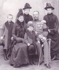 sitting: Gisela and Leopold with little Konrad.  standing: Georg, Elisabeth & Auguste