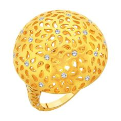 Dome ring with intricate paisley filigree.