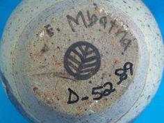 Rorkes Drift Pottery, by Elizabeth Mbatha - leaf mark D mark numbers