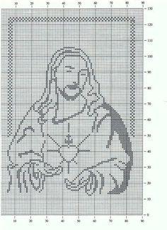 Filet Crochet, Crochet Cross, Crochet Cat Pattern, Crochet Chart, Crochet Stitches, Crochet Patterns, Cross Stitch Designs, Cross Stitch Patterns, Cross Stitch Silhouette