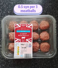 """Louisiette Ellens on Instagram: """"Aldi fresh meat section. These are probably some of the best meatballs I've ever tasted. I use @pinchofnom bolognese recipe but replace the…"""" Aldi Slimming World, Slimming World Recipes, Best Meatballs, Bolognese Recipe, Healthy Food, Healthy Recipes, Fresh Meat, Lidl, Allrecipes"""