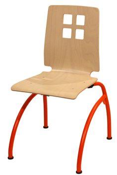 CHAISE DAMIER COLIBRI APPUI SUR TABLE #chaise #chair #fauteuil #siegerestauration #equipementrestaurant #acier #appuisurtable