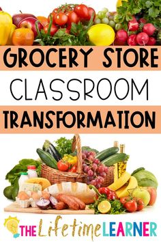Check out this fun grocery store classroom transformation theme for elementary students in first, second, third, fourth, fifth grade. This grocery or shopping room transformation will set the stage to engage and is stress-free! It's a worksheet or escape room alternative, and can be used in small groups or partners. 1st, 2nd, 3rd, 4th, 5th graders enjoy classroom transformation ideas. Digital and printables for kids (Year 1,2,3,4,5) #setthestagetoengage #classroomtransformation #mathactivities