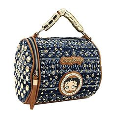 Betty Boop Small Premium Handbag, Denim, 2015 NEW (Small Barrel Bag) Betty Boop LuxeBag http://www.amazon.com/dp/B011J57UHK/ref=cm_sw_r_pi_dp_43Pfwb12V1751