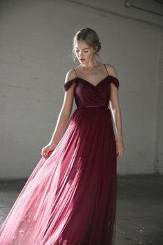 jenny yoo lace off shoulder burgundy bridesmaid dress
