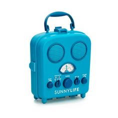 Water Resistant Retro Radio - Blue - Pool Party Collection - Dot & Bo