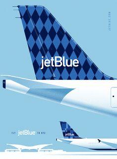 Vintage posters for Jet Blue