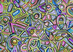 Neon Original ACEO Abstract Drawing.  I do ACEO cards.  They are fun to do.  EEC