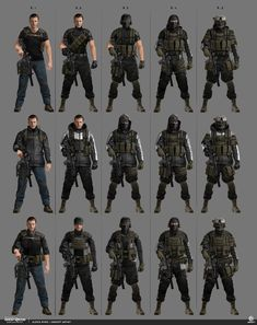 Credit to Ubisoft Anime Military, Military Gear, Military Weapons, Armor Concept, Concept Art, Apocalypse Character, Ghost Recon, Combat Armor, Military Drawings