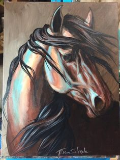 Equine art portrait kiger mustang blm wild west by RustyHaloStudio Horse Drawings, Art Drawings, Abstract Horse Painting, Western Art, Western Wild, Horse Artwork, Animal Paintings, Horse Paintings On Canvas, Guache