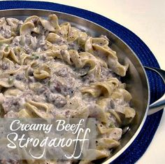 Creamy Beef Stroganoff {Ground beef} - super quick and easy and the girls loved it!