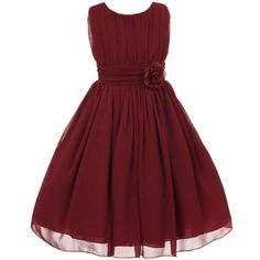 BURGUNDY-Flower-Girl-Dresses-Wedding-Bridesmaid-Pageant-Birthday-Formal-Party