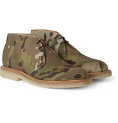 Mark McNairyCamouflage-Print Canvas Desert Boots -  One problem though will i ever find were i took them off !
