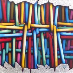 Carlo Petrini dipinto su tela contemporary - fluidofiume galleria d'arte Trieste