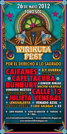 "Café Tacvba publica cartel oficial del ""Wirikuta Fest""  http://noticiasespectaculos.info/cafe-tacvba-publica-cartel-oficial-del-wirikuta-fest/"