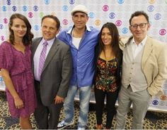 Jim with cast of Person of Interest. Best show on t.v. today! <3
