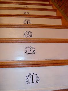 Paint Colors in My Home {paint colors} - Home Stories A to Z  could do my stairs this way