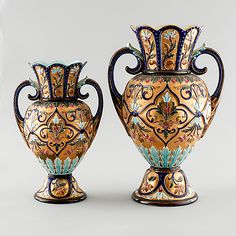 Two Rörstrand vases in majolica, made around year - Bukowskis Design, Home Decor, Interior Design, Design Comics, Home Interior Design, Home Decoration, Decoration Home, Interior Decorating