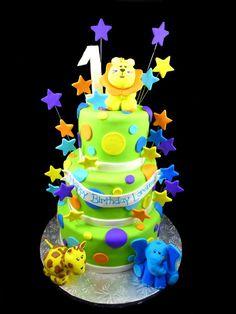 Fun Jungle theme cake