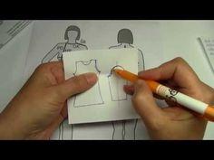 Jak udělat stříh rukavu. - YouTube