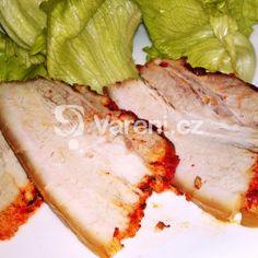 Vařený pečený paprikový bůček Bucky, Camembert Cheese, Pork, Food And Drink, Dairy, Meat, Red Peppers, Creative, Kale Stir Fry