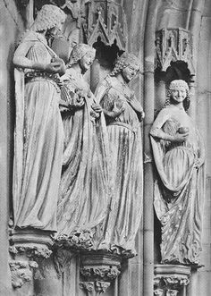 Magdeburg Cathedral, wise virgins, Paradise portal, c. 1245