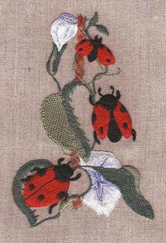 LADYBUGS beautiful embroidery kit. Via canevasfollies.ch