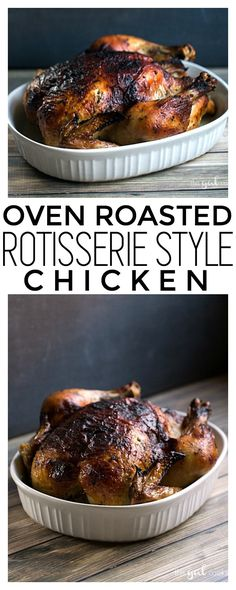 Oven Roasted Rotisserie Style Chicken | This Gal Cooks