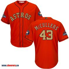 Astros 43 Lance McCullers Orange 2018 Gold Program Cool Base Jersey