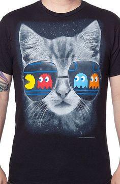 9108f5f1d121 Cat Scratch Pac-Man Fever T-Shirt