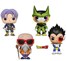 Animation: Dragonball Z - Perfect Cell, Vegeta, Trunks & Master Roshi W/ Staff Items) Dragon Ball Z, Funko Pop, Perfect Cell, Gadgets, Animation, Bowser, Amazon, Fictional Characters, Art