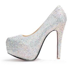 7293a2751 R$ 220.7  Venda quente 110 140 mm 2015 plataforma Sexy sapatos de salto  alto mulheres bombas strass casamento sapatos de cristal de salto alto  sapatos clube ...